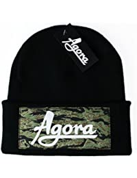 Agora Custom Tiger Camo Beanie Hat Bonnet