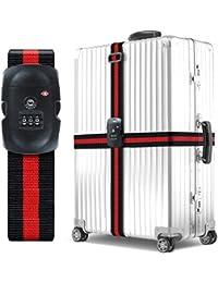 Sangle à bagage - BEZ™ Agréée par la TSA Sangle à bagage voyage réglable Sangle d'emballage Ceinture Valise Sangles de Sécurité Sac