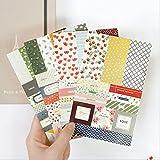 Bonytain 8SHEETS/set Forest Story Kawaii adesivi scrapbooking calendario planner notebook album adesivi di carta