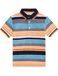 Blue Zoo Bz1 Orange Stripe Polo