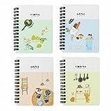 XIAOXINYUAN 4Pcs Mini Ordinateur Portable Papeterie Étudiant Le Bloc-Notes Livre De Poche Pc Portable.