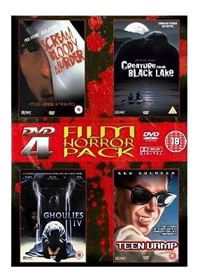 4-DVD Film Horror Pack (Scream Bloody Murder, Creature From Black Lake, Ghoulies IV, Teen Vamp)
