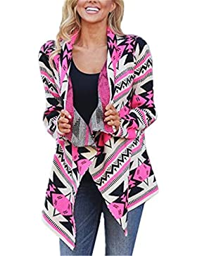 AILIENT Donna Cardigan in Maglia Autunno Manica Lunga Cappotto Maglieria Sottile Lunghe Tasca Coat Maglieria Kimono...