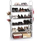 Top-max 18 pares capacidad portátil 6 niveles acero organizador para zapatos de recipientes apilables