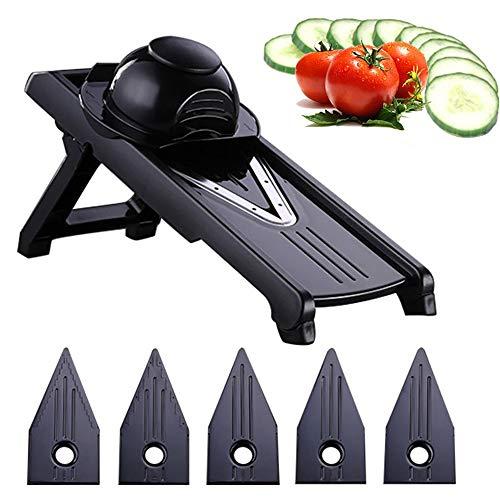 DYOYO 6 in 1 Gemüseschneider Multifunktions Küchenhelfer Eiertrenner Mandoline Reibe Hobel Zerkleinerer für Obst Gemüse Zwiebel Kartoffel