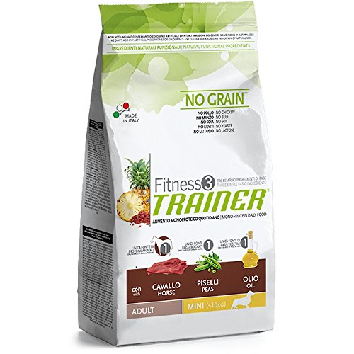 Trainer Fitness 3 No Grain Mini con Cavallo Piselli e Olio 2kg