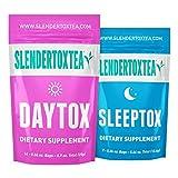 Slendertoxtea - 14 Tage Tee Nahrungsergänzungsmittel (Gewichtsverlust Tee, Diät Tee, Schlankheits- Tee und Fett verbrennen Tee) Diätergänzung, Detox & Grüner Tee …