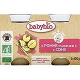 babybio Petits pots aux pommes coings, dès 4 mois, certifié AB ( Prix unitaire ) - Envoi Rapide Et Soignée