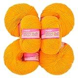 #10: M.G 100% Acrylic Wool Yellow Baby Soft Wool Ball Hand knitting wool / Art Craft soft fingering crochet hook yarn, needle knitting yarn thread dyed