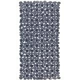 Wenko 22501100 Wanneneinlage Paradise Antirutsch-Badewannenmatte mit Saugnäpfen, Kunststoff, anthrazit, 71 x 36 cm