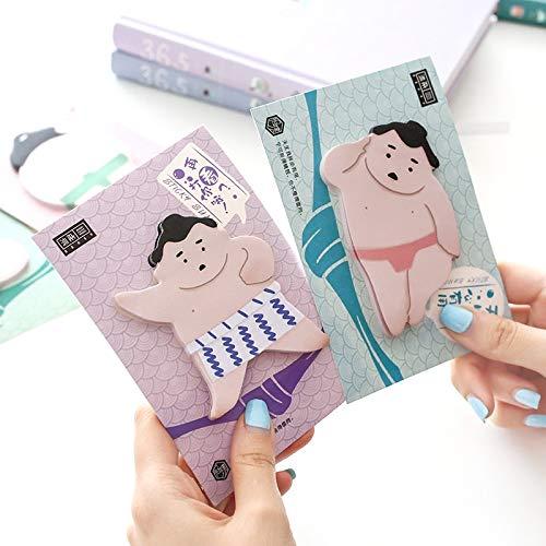 4 pezzi sumo sticky note blocco note giapponese per wrestling adesivo divertente note diario cancelleria accessori per ufficio materiale scolastico 6644