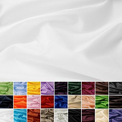 Seda Tafetán - 100% poliéster - Por metro - 27 colores (blanco)