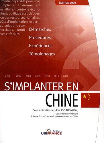 S'implanter en Chine par Elsa Joo-Thomson