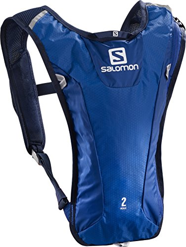Salomon agile, zaino unisex (set da 2), surf the web/acido lime, 40 x 20 x 2 cm