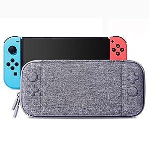 Poconic Tragetasche Kompatibel mit Nintendo Switch – Aufbewahrungstasche/- Hartschalen Case/Cover/Hülle/Schutzhülle für die Verwendung mit der Nintendo Switch Konsole & Accesoires