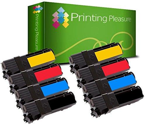 8 Toner kompatibel für Xerox Phaser 6130 6130N - Schwarz/Cyan/Magenta/Gelb, hohe Kapazität - Phaser 6130 Toner Cyan