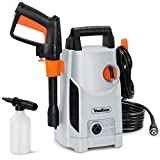VonHaus 1600W Max Pressure Washer with Accessories – Outdoor Home/Patio & Car Cleaner – 90bar Max Pressure, 330litres/hour Flow