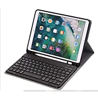 حافظة لوحة مفاتيح آيباد إير 2019 (الجيل الثالث) 10.5 بوصة إضاءة خلفية لاسلكية مع لوحة مفاتيح بلوتوث قابلة للطي غطاء حامل رفيع مع خاصية النوم / الاستيقاظ التلقائي