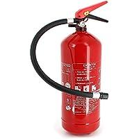 Extintor 6 Kg de polvo con mayor eficacia 34A 233B C, soporte incluido.