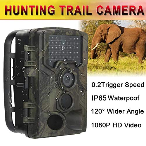 SUNSETGLOW Wildlife Trail Kamera 12MP 1080P HD Spiel Kamera mit IR LEDs Nachtsicht 2,0 '' LCD Display Scouting Kamera mit IP66 Wasserdicht HC-800A Infrarot-trail-kameras