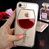 Best Iphone 6 Plus Case For Girls - KC Liquid Wine Glass Soft Transparent Back Cover Review