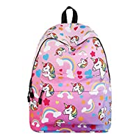 Travel Rucksack 3D Unicorn Print Backpack College School Bag for Boys Girls Students