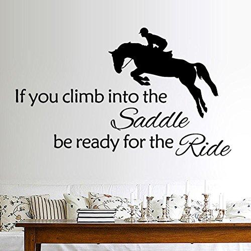 Wand Aufkleber | erthome Männer reiten Pferd Kunst Vinyl Wandbild Home Decor Wandaufkleber abnehmbar (Pferd Fliese Wandbild)