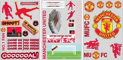FC Manchester United Wand-Fensterdekoration/Sticker/Wandtattoo/Aufkleber 64 Stück