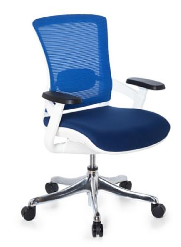 hjh OFFICE 652911 Bürostuhl Chefsessel SKATE STYLE Stoff Netzstoff schwarz / blau, außergewöhnlicher Sitzkomfort, funktioneller Drehstuhl mit toller Ausstattung, Bürodrehstuhl ergonomisch, Schreibtischstuhl
