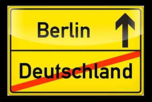 """ Berlin / Deutschland "" – Fussmatte bedruckt Türmatte Innenmatte Schmutzmatte lustige Motivfussmatte"
