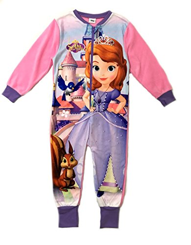 Girls Fleece Character Onesie Pyjamas Childrens All In One Pjs Size UK 1-8 Years