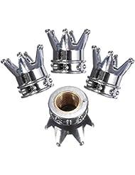 Moppi Corona casquillos de válvula del neumático rueda de bicicleta de aire cubren