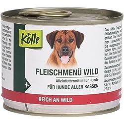 Kölle Nassfutter für Hunde Fleischmenü Wild, 200 g