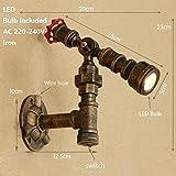 LWYJRBD Wandleuchte Wandlampe/Deco Eisen Wasser Rohr Wand Lampe Wandleuchte LED mit 6 Arten für Schlafzimmer Wohnzimmer Badezimmer Pfad Cafe, E
