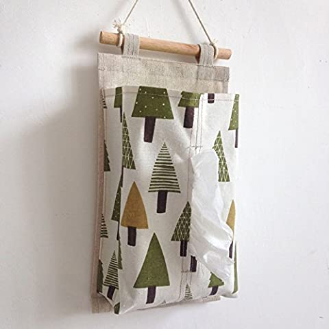 Cotton fabric wall hanging storage bag paper bag,A
