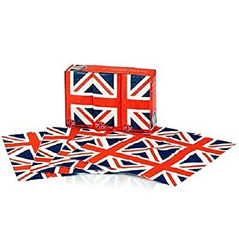 Pocket Tissues 6 Packets of 3 Ply Facial Tissues- Union Jack Design
