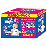 babies best Magics Premium Windeln,  Gr. 4 Maxi 7-18 kg Promo Pack (2 x 29 Windeln plus 2 x 72 Feuchttücher)