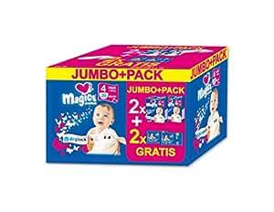 babies best Magics Premium Windeln, Promo Pack, Größe 4, 7-18 kg, (2 x 29 Windeln plus 2 x 72 Feuchttücher)