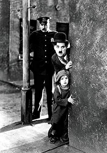 Generic The Kid Film Foto Poster Klassisches Film Kunst Charlie Chaplin The Tramp 003 (A5-A4-A3) - A3 - Charlie Chaplin-film Poster