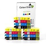12 XL ColourDirect Compatible Ink Cartridges Replace for Epson WorkForce WF-2010W, WF-2510WF, WF-2520NF, WF-2530WF, WF-2540WF, WF-2630WF, WF-2650DWF, WF-2660DWF printers 16XL