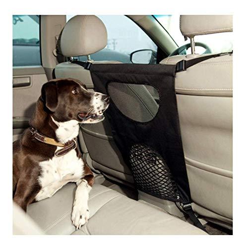 Guajave Dog Barrier Haustier Hund Auto Barriere Sitz Netz Hindernis Tuch Hunde Rücksitz Barrieren zu Halten Driver Sicher - Schwarz -