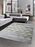 Carpetia Moderner Teppich Wollteppich Antik Vintage Ornamente grau Creme Größe 160x230 cm