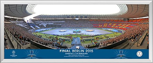 2015UEFA Champions League Finale Line Up Panoramic - Finale Framed