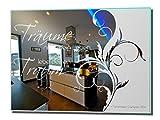 Motivspiegel Spruch Traum - 30x40cm - Spiegel mit Gravur eines Spruches - Spruch ist frei wählbar - Flurspiegel - Badspiegel