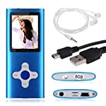 "FEITONG 8GB nehmen Digital-MP3 MP4 Player 1.8 ""LCD-Bildschirm FM Radio Video Games Film Kopfhörer USB-Kabel (Blau)"