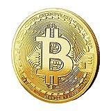 CK-Shop Physische Bitcoin Münze mit 24 Karat Gold Überzug - Bitcoin Medaille als Sammlerstück - Krypto Münzen ideal als Geschenkidee inkl. Schutzhülle, 1 Münze (Münze)