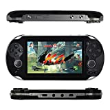 Kasit 1PC Handheld 4.3inch 8GB Video Game Console Free 100+ Games MP4 MP5 Players With Dual Joystick Camera Classic Portable Retro Game Player Birthday Gift for Kid - Black
