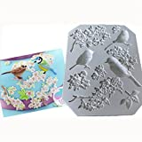 ODN DIY Frame Silicone Mold Cakes Chocolate Mould Fondant Tool Cake Bird Border