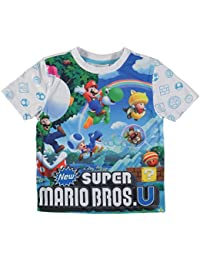 Nintendo Super Mario Bros T-Shirt Infant Boys Blue/Multi Top Tee Tshirt