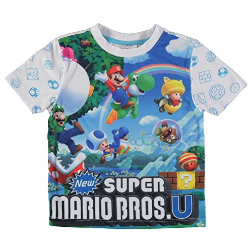 Boys Colourful Super Mario Bros T-shirt, 13 years